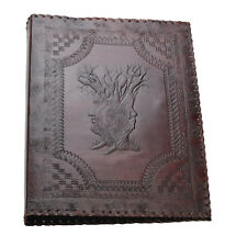 Tree Family 4 Ring Binder Arch File Folder DIN A4 Genuine Leather Handmade India