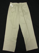 $58 NWD NEW Mens Dockers Signature D4 Relaxed Pleated Pants Stone 38/29 N159(d)