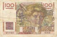 France 100 Francs 1947 (L22) - Free Combine Low Shipping 333