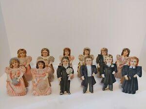 Clark's Spool Cotton Paper Dolls Complete Wedding Set of 12 Bride Groom Minister