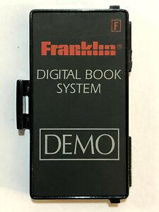 Franklin Bookman Electronic Digital Book System 1993 DEMO BOOK Cartridge 1C-901