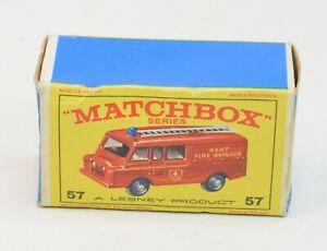 Matchbox Lesney No 57 Land Rover Fire Truck Original Box Only.