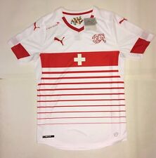 Puma Switzerland Soccer White Away Jersey, Size Small, Suisse Football *NEW*