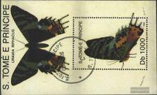 Sao Tome e príncipe Bloque 294 (edición completa) usado 1992 Mariposas