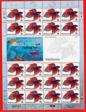 Malaysia Stamps Full Sheet - Fighting Fish #1  MNH