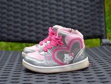 Hello Kitty Mädchen Schuhe halbhohe Sneaker silber/rosa Gr. 23
