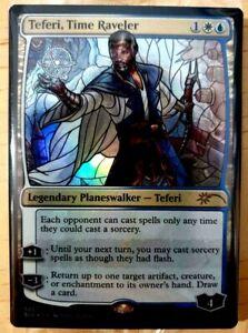 MTG: Secret Lair Drop 'Teferi, Time Raveler' FOIL Stained Glass - NM - #526