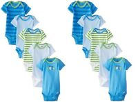 LOT OF 2 PACKAGES Gerber Baby Boys 5 Pack Variety Bodysuits 0-3 month Onesie