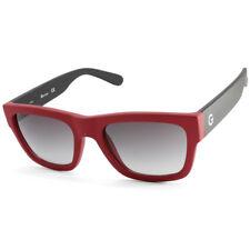 G by Guess GG2106 Matte Red & Black/Grey Gradient Men's Rectangular Sunglasses