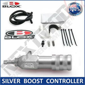 BLOX SILVER Manual Boost Controller Adjustable Boost Tee Turbo Supercharged MBC