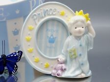 Mud Pie Prince Picture Frame Retired Porcelain Unused Gift 2001 gift boxed cute