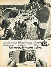 PUBLICITE ADVERTISING 035  1971  POLAROID 2     appareil photo  COLORPACK 80