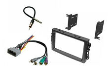 Double Din car Stereo Radio Install Dash Trim Kit Wire Harness Antenna Adapter
