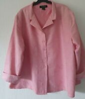SILKAND WOMEN PINK FULLY LINED JACKET BUTTON FASTENING 100% SILK XXL