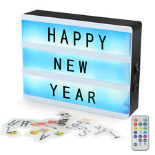 A5 Magnetic Cinematic Light Box Remote DIY LED Letter Message Display Light Box