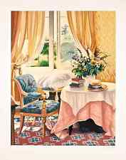 """Susan Rios - """"The Remarkable Afternoon"""", hand-signed serigraph on paper"""