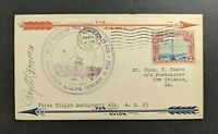1932 Montgomery Alabama Lindbergh First Flight Cover to New Orleans LA Signed