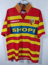Racing Club De Lens 96-98 Umbro Jersey Made In England 100%poly SzL 90s vintage