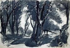 ROBERT KIRKLAND JAMIESON Oil Painting IMPRESSIONIST FOREST LANDSCAPE c1930
