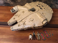 Vintage Star Wars Millennium Falcon Ship Sold As Is Not Working 1979 Kenner