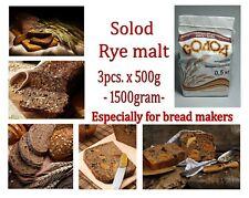 3 pcs x 500gram = 1.5 kg (1500gram) Solod Rye malt. Especially for bread makers!