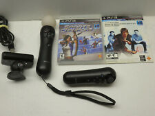 MOVE 2 CONTROLLERS CAMERA SET LOT SONY PS3 PLAYSTATION 3 2 GAMES