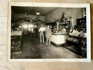 Original 1930's  PHOTO MASSEY DRUG STORE IN DAWSON TEXAS COCA COLA SIGNS