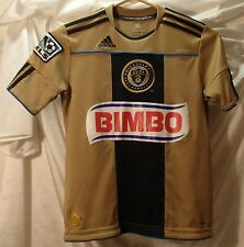 Philadelphia Union Gold Sewn MLS Soccer Jersey Shirt Youth Kids S