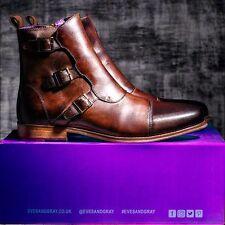 NUEVO tonsilótomo y gris Lockheed Hombres Zapatos Botas Bronceado Talla 11uk Rrp280