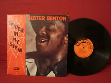 BUSTER BENTON SPIDER IN MY SOUP BLUES LP RONN  LABEL