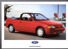 Ford Escort Cabriolet 1.6i Mk5 1990-91 UK Market Postcard Format Brochure