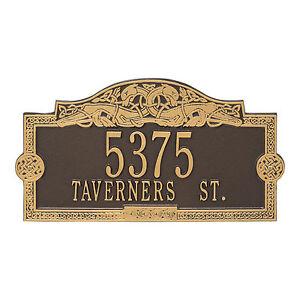 Celtic Dragon Personalized Address Plaque