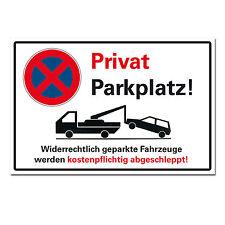 Privatparkplatz Halteverbot Hinweisschild Parken verboten Hartschaumplatte 3mm