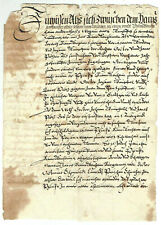 German Antique Manuscript Fragment of a lawsuit on the sale of land 1578