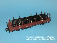 Ladegut H0 – Pipeline-Rohre schwarz (L=125 mm) für Güterwagen