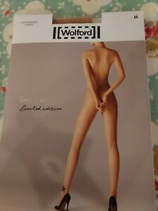 Wolford Los Angeles Tights, limited edition, Medium, gobi/black