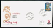 LIBERIA FDC 2008 COVER BEIJING OLYMPIC GAMES