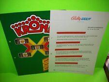 Bally Wulff KRONE Original GERMAN Text Slot Machine Flyer BROCHURE + Letterheads