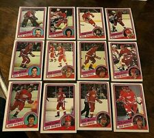 1984-85   O-Pee-Chee  DETROIT REDWINGS  22  card team set/lot