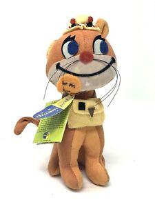 "Retro Dakin Dream Pet Cat Fish N' Chips #23 Orange Stuffed Velveteen 6"" Toy"