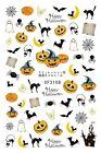 Halloween Nail Decals Sticker Pumpkin Skull Flowers Poker Ghost Clowns Nails