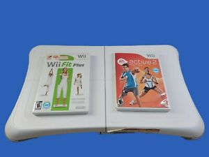Wii Fit Plus, EA Sports Active 2 BOTH COMPLETE w/ Wii BALANCE BOARD