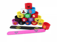 Hooggle 18 Pack Superheroes Wristbands Slap Bands Party Supplies Snap Bracelets