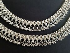 Antique ethnic tribal silver Anklet Bracelet pair Belly dance Rajasthan India