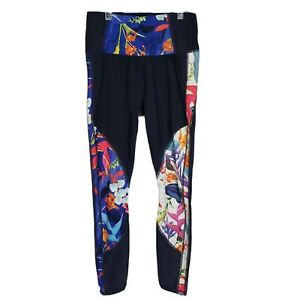 Athleta Womens Leggings Small Tropical Precision 7/8 Ankle Tight Floral 596935