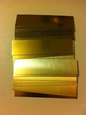 """40 GOLD ALUMINUM ENGRAVING MACHINE PLAQUE & TROPHY PLATES  1X4"""" TROPHES"""