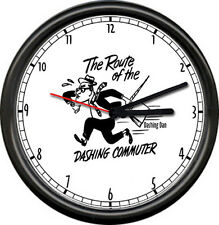 Dashing Dan Commuter Long Island Railroad LIRR Train RR Sign Wall Clock