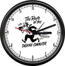 Dashing Dan Commuter Long Island Railroad LIRR Train RR Sign Wall Clock