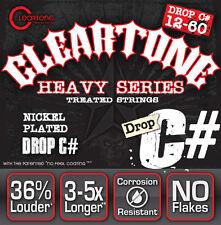 COATED MONSTER CLEARTONE ELECTRIC GUITAR STRINGS SET HEAVY DROP C# GAUGE 12-60