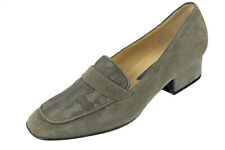 NEW BALLY Sz 6.5 M Gray Talens-U Embroided Suede Leather Pumps  Style Flex ITALY